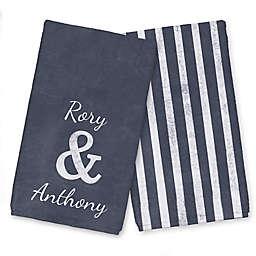 Slate Ampersand Names Tea Towel Set