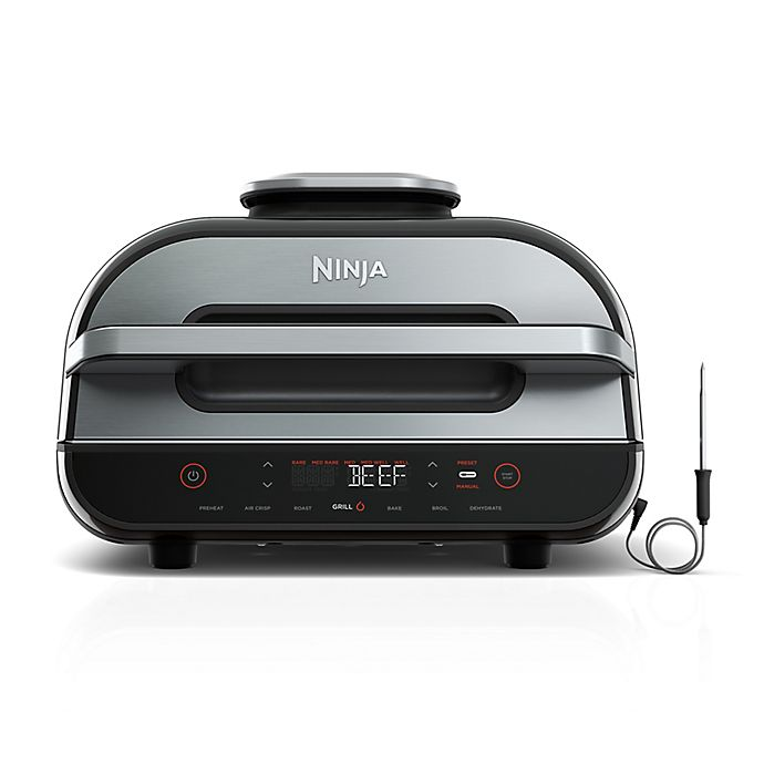 Alternate image 1 for Ninja® Foodi™ Smart XL 6-in-1 Indoor Grill with 4-qt Air Fryer, Roast, Bake, Broil, Dehydrate