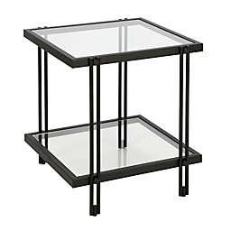 Hudson&Canal Inez Side Table in Blackened Bronze