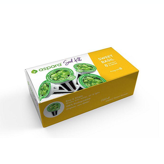 Alternate image 1 for aspara Sweet Basil 8 Capsule Seed Kit