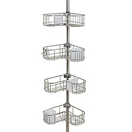 ORG NeverRust® 4-Tier Corner L-Shape Shower Caddy in Stainless Steel