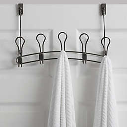 ORG Zenna Over-the-Door 5-Hook Rack in Satin Nickel