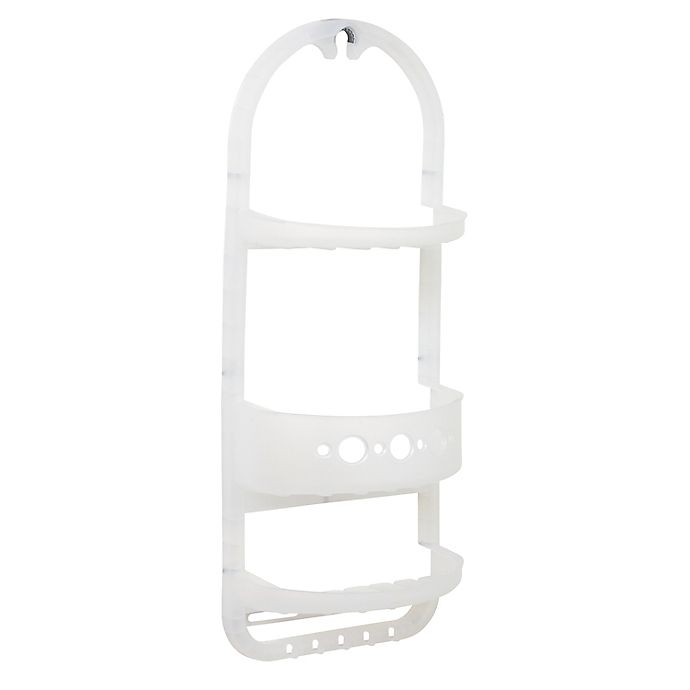 Alternate image 1 for Zenna Home® Over-the-Shower Caddy in Frosted Clear