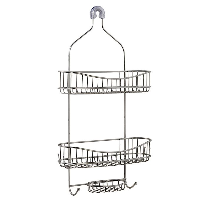 Alternate image 1 for ORG NeverRust™ Extra Wide Stainless Steel Shower Caddy