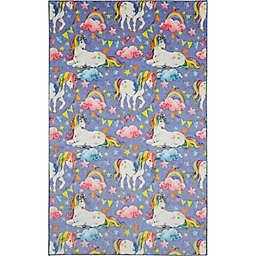 Mohawk Home® Prismatic Unicorn Wish 8' x 10' Area Rug in Purple