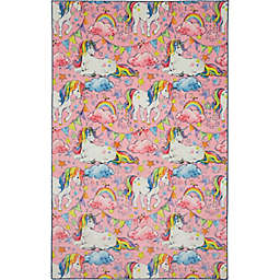 Mohawk Home® Prismatic Unicorn Wish 5' x 8' Area Rug in Pink