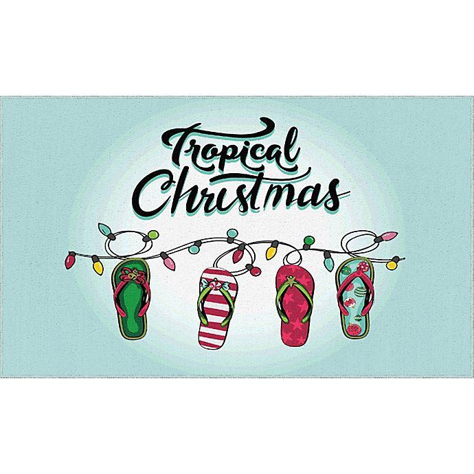 Alternate image 1 for Mohawk Home® Prismatic Tropical Christmas Rug in Light Blue