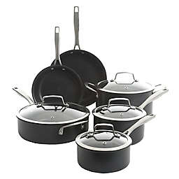 Kenmore Pro Arbor Heights Nonstick Hard-anodized Aluminum 10-Piece Cookware Set in Black
