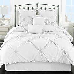 Lorraine 8-Piece Comforter Set in White