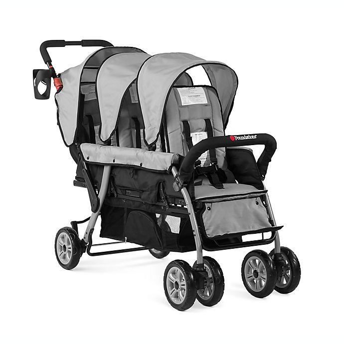 Alternate image 1 for Foundations® Trio Sport™ Triple Tandem Stroller in Grey/Black