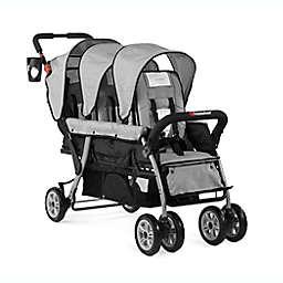 Foundations® Trio Sport™ Triple Tandem Stroller in Grey/Black