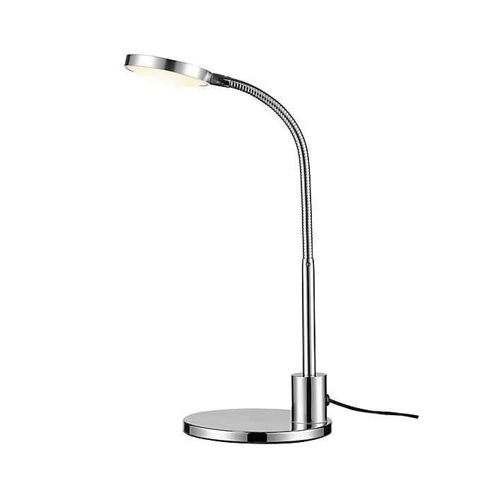 Alternate image 1 for Globe Electric Harvey LED Integrated Desk Lamp in Chrome with Metal Shade