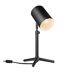 Globe Electric Pratt Adjustable Desk Lamp with Metal Shade in Black