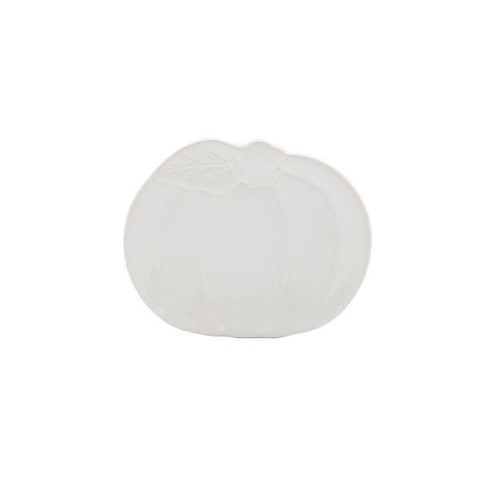 Alternate image 1 for Modern Farmhouse Harvest Pumpkin Appetizer Plates in White (Set of 4)