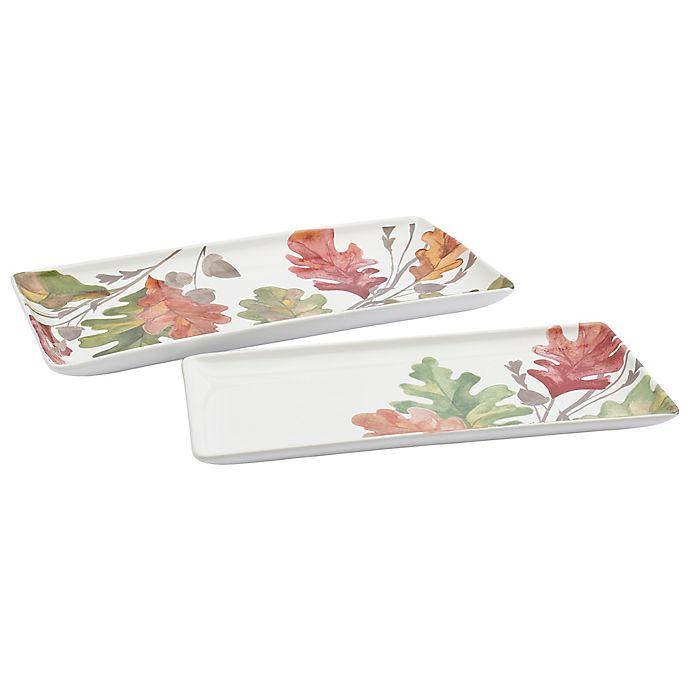 Alternate image 1 for Modern Farmhouse Harvest 2-Piece Rectangular Platter Set
