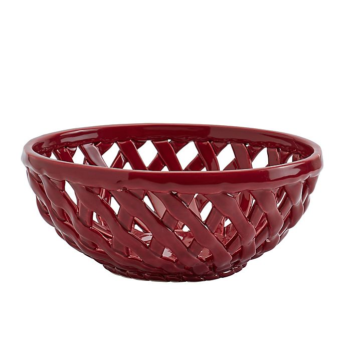 Alternate image 1 for Modern Farmhouse Harvest Bread Basket in Red