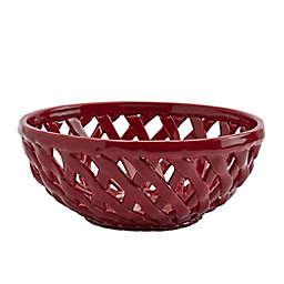 Modern Farmhouse Harvest Bread Basket in Red