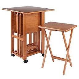 Sophia 5-Piece Snack Table Set in Teak