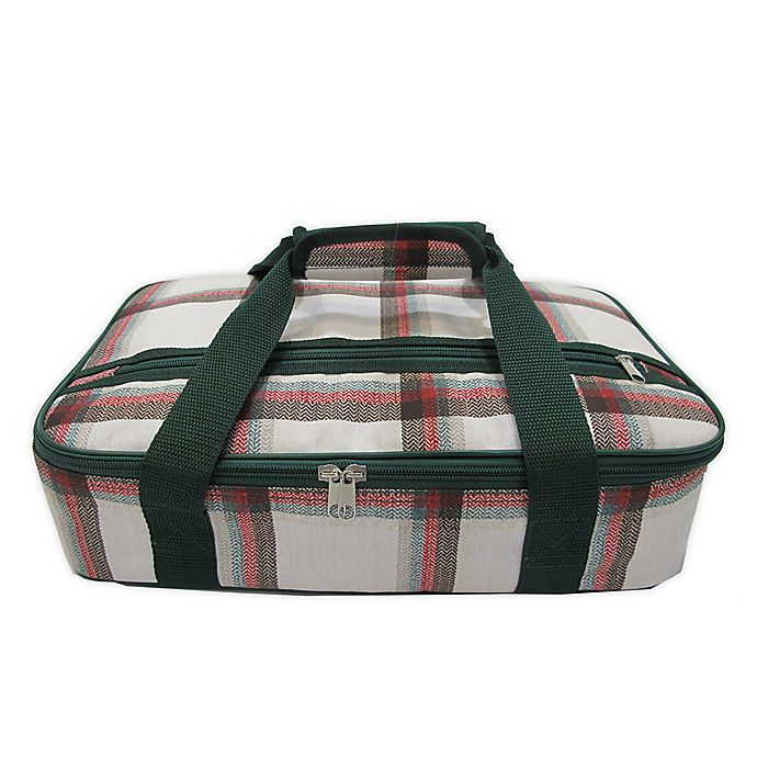 Alternate image 1 for Bee & Willow 128 oz. Insulated Casserole Carrier Tote Bag in Red