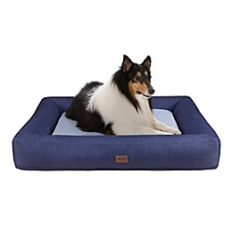 Martha Stewart Madison Denim Bolster Pet Napper with Removable Cover