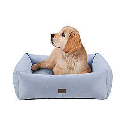 Martha Stewart Charlie 4-Sided Bolster With Ortho Base and Removable Cover in Heather Grey