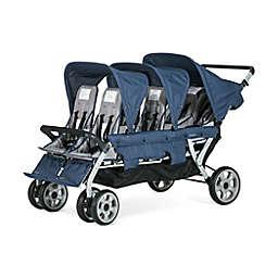 Gaggle® Jamboree™ 6-Seat Folding Stroller in Navy/Grey