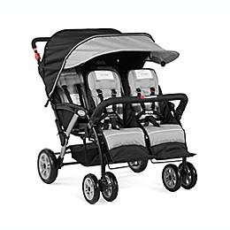 Foundations® Quad Sport™ 4-Seat Stroller in Grey/Black