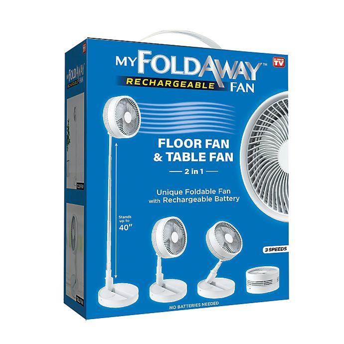 Alternate image 1 for As Seen on TV 7039 11.5-Inch My Foldaway Fan in White