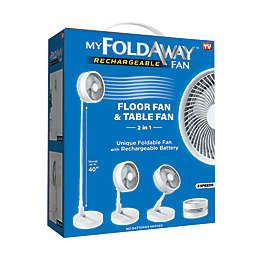 As Seen on TV 7039 11.5-Inch My Foldaway Fan in White