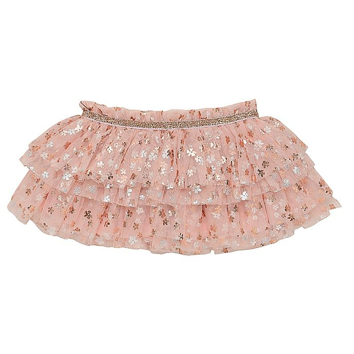 Alternate image 1 for Baby Starters® Size 6M Tutu Skirt in Light Pink Metallic Dot