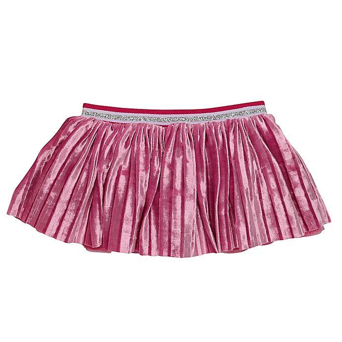 Alternate image 1 for Baby Starters® Newborn Tutu Skirt in Raspberry Pleated Velvet