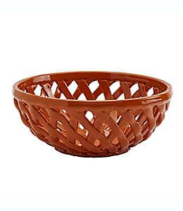 Cesta para pan de cerámica Modern Farmhouse Harvest color naranja