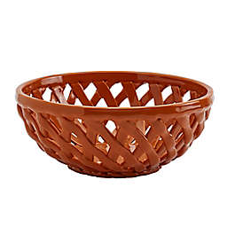 Modern Farmhouse Harvest Bread Basket in Orange