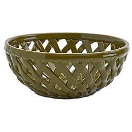Modern Farmhouse Harvest Bread Basket in Green