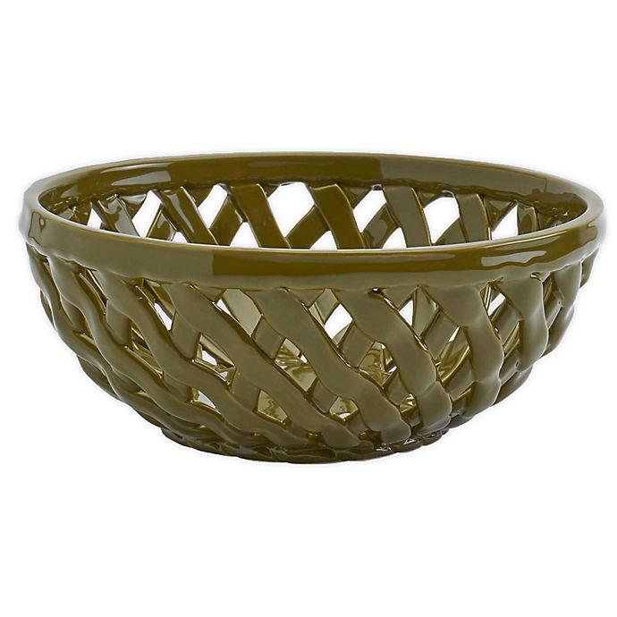 Alternate image 1 for Modern Farmhouse Harvest Bread Basket in Green
