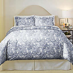 Pointehaven Boho Paisley 2-Piece Twin/Twin XL Duvet Cover Set in Blue