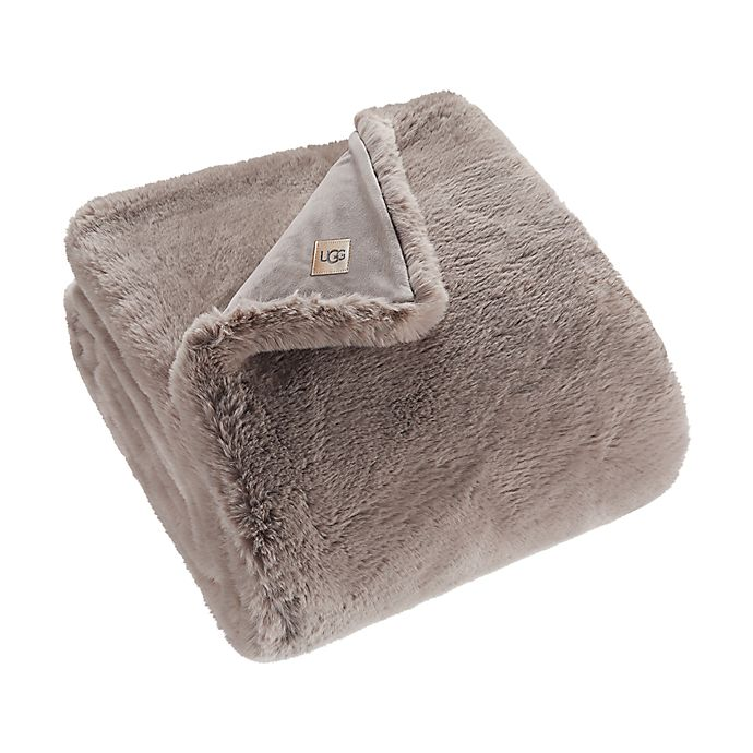 Alternate image 1 for UGG® Mammoth Faux Fur Throw Blanket in Fawn