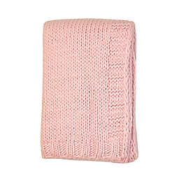 NoJo Kimberly Grant Large Gauge Cable Knit Blanket in Pink