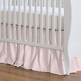 NoJo® Kimberly Grant Shabby Chic Crib Skirt in Pink