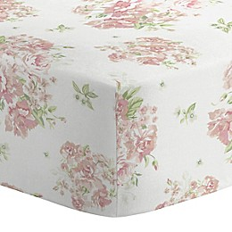 Nojo® Kimberly Grant Shabby Chic Floral Crib Sheet in Pink