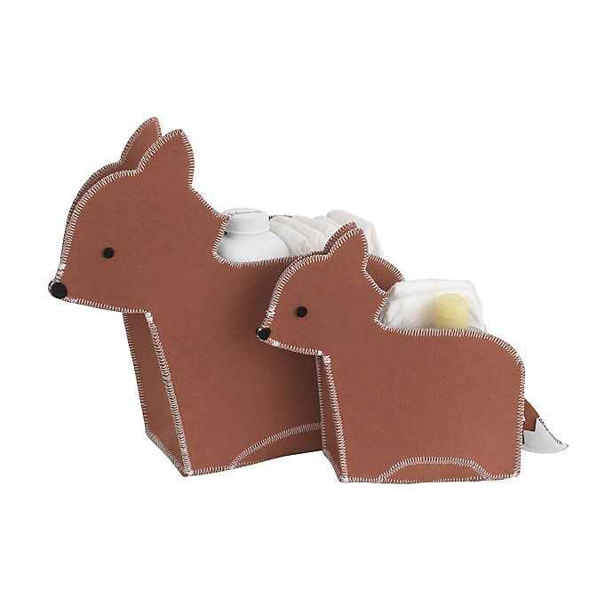 Alternate image 1 for Little Love by NoJo® 2-Piece Fox Storage Caddy Set in Orange