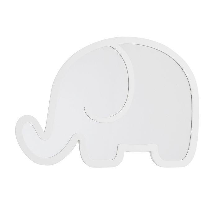Alternate image 1 for Little Love by Nojo® Elephant Shatterproof Mirror in White