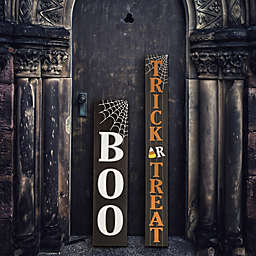 Glitzhome 59-Inch Wooden Trick Or Treat Porch Sign