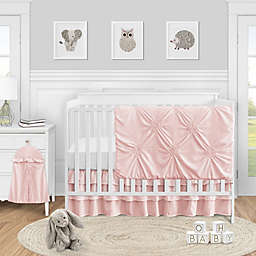Sweet Jojo Designs® Harper 4-Piece Crib Bedding Set in Blush/White