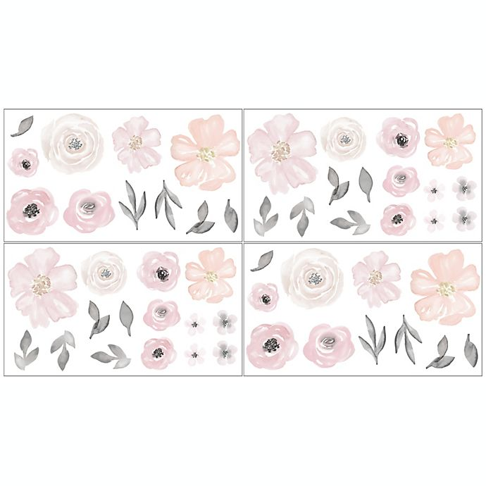 Alternate image 1 for Sweet Jojo Designs® Watercolor Floral Wall Decals