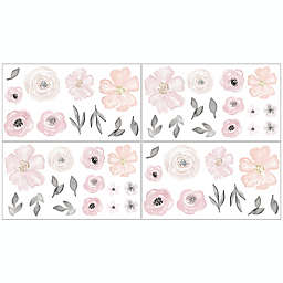 Sweet Jojo Designs® Watercolor Floral Wall Decals