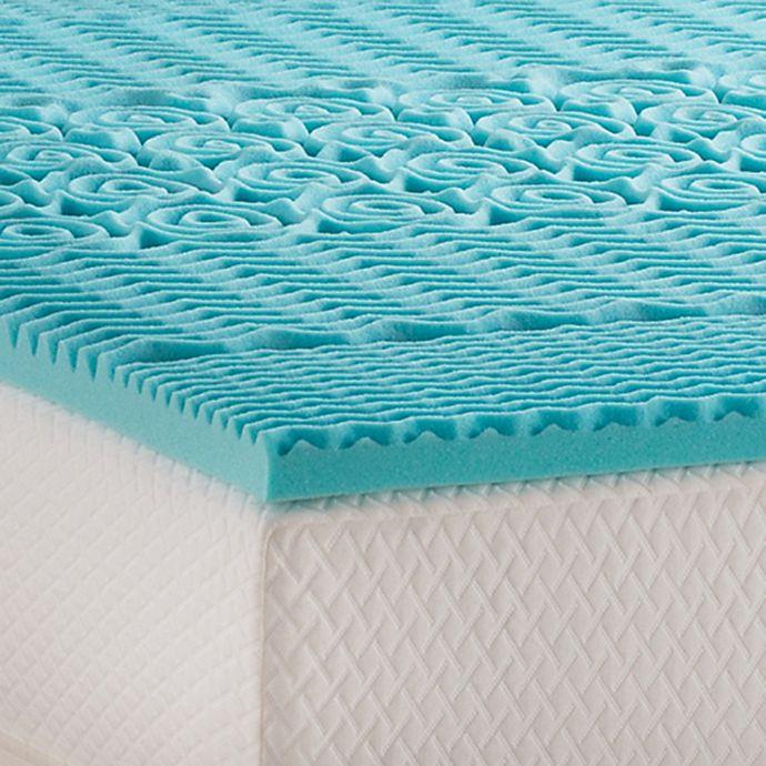 Alternate image 1 for Linenspa Signature Collection™ 2-Inch Gel Memory Foam Mattress Topper