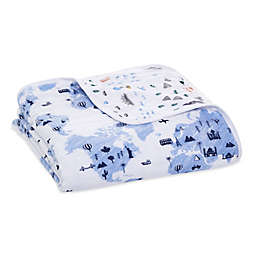 aden + anais™ essentials Big World Muslin Blanket in Blue