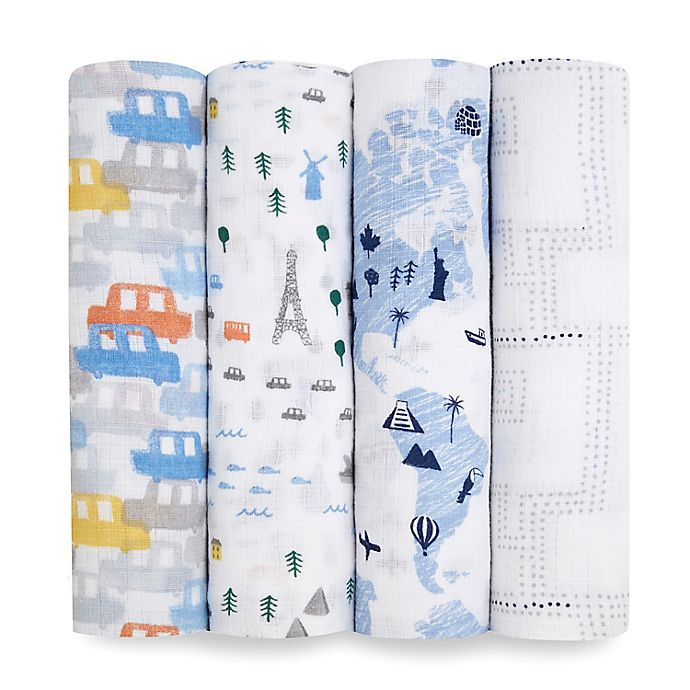 Alternate image 1 for aden + anais essentials® 4-Pack Swaddle Blankets