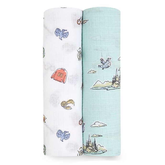 Alternate image 1 for aden + anais™ essentials 2-Pack Harry Potter Muslin Swaddle Blankets